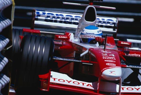 2002 Monaco Grand Prix.Monte Carlo, Monaco. 23-26 May 2002.Mika Salo (Toyota TF102).Ref-02 MON 35.World Copyright - LAT Photographic