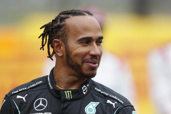 Sir Lewis Hamilton, Mercedes, on the grid, ahead of the 2022 Formula 1 car unveiling