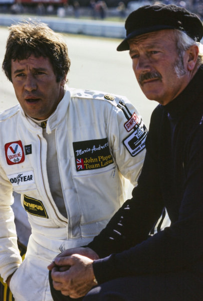 Mario Andretti and Colin Chapman.