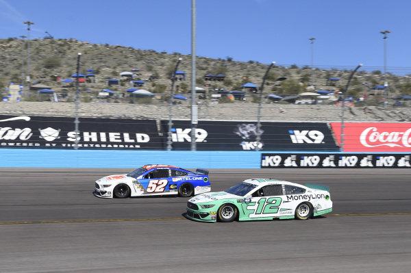 #52: Bayley Currey, Rick Ware Racing, Chevrolet Camaro Mtel-One, #12: Ryan Blaney, Team Penske, Ford Mustang MoneyLion
