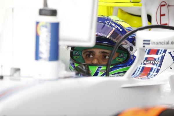 Felipe Massa (BRA) Williams FW38 at Formula One World Championship, Rd18, United States Grand Prix, Qualifying, Circuit of the Americas, Austin, Texas, USA, Saturday 22 October 2016.