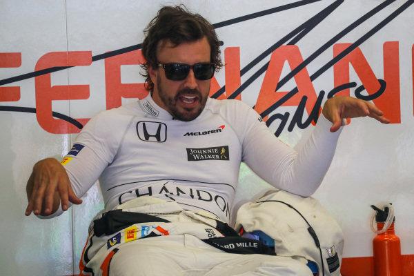Fernando Alonso (ESP) McLaren at Formula One World Championship, Rd9, Austrian Grand Prix, Practice, Spielberg, Austria, Friday 7 July 2017. BEST IMAGE