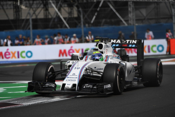 Felipe Massa (BRA) Williams FW38 at Formula One World Championship, Rd19, Mexican Grand Prix, Race, Circuit Hermanos Rodriguez, Mexico City, Mexico, Sunday 30 October 2016.