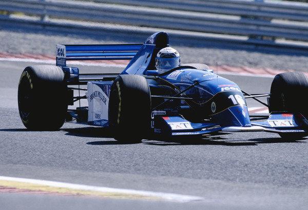 1995 Portuguese Grand Prix.Estoril, Portugal. 22-24 September 1995.Jean-Denis Deletraz (Pacific PR02 Ford).Ref-95 POR 24.World Copyright - LAT Photographic
