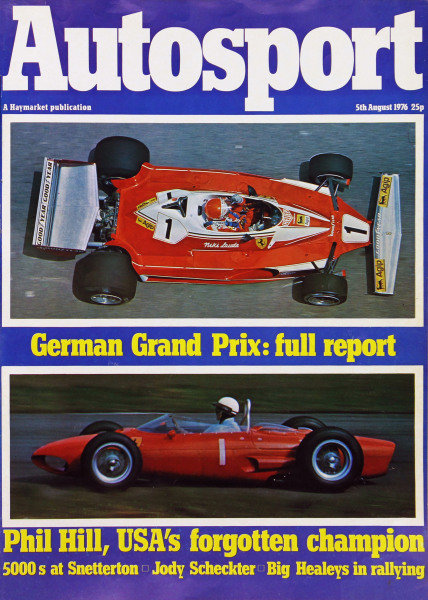 Cover of Autosport magazine, 5th August 1976