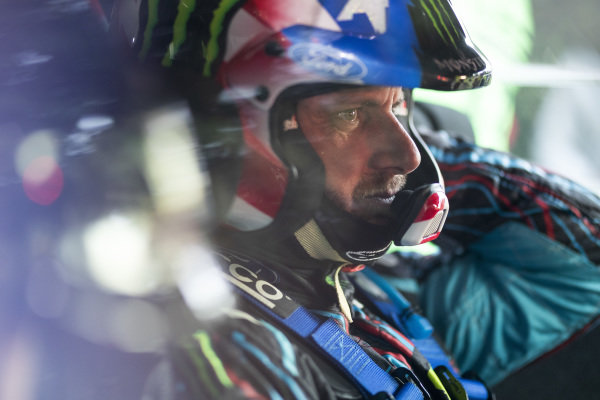 Ken Block, Hoonigan Racing Division, Ford Fiesta RS WRC 2018, making a one-off appearance in WRC during 2018