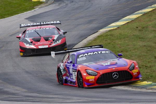 #19 Mercedes-AMG GT3 of Erin Vogel and Michael Cooper, DXDT Racing, Fanatec GT World Challenge America powered by AWS, Pro-Am, SRO America, Virginia International Raceway, Alton, VA, June 2021.