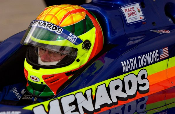 IRL Radisson Indy 225, Pikes Peak International Raceway, Fountain,Colorado, USA 16 June,2002 New Menards driver Mark Dismore.