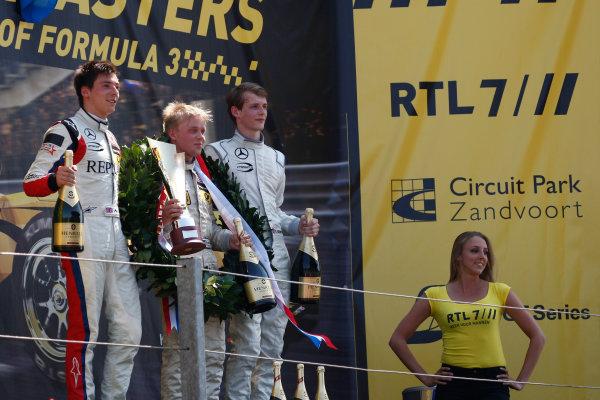 2013 Masters of Formula Three, Zanvoort, 7th July 2013. Podium, Lynn, Rosenqvist and Emil Berstorff World Copyright: Essay/Ebrey/LAT Photographic