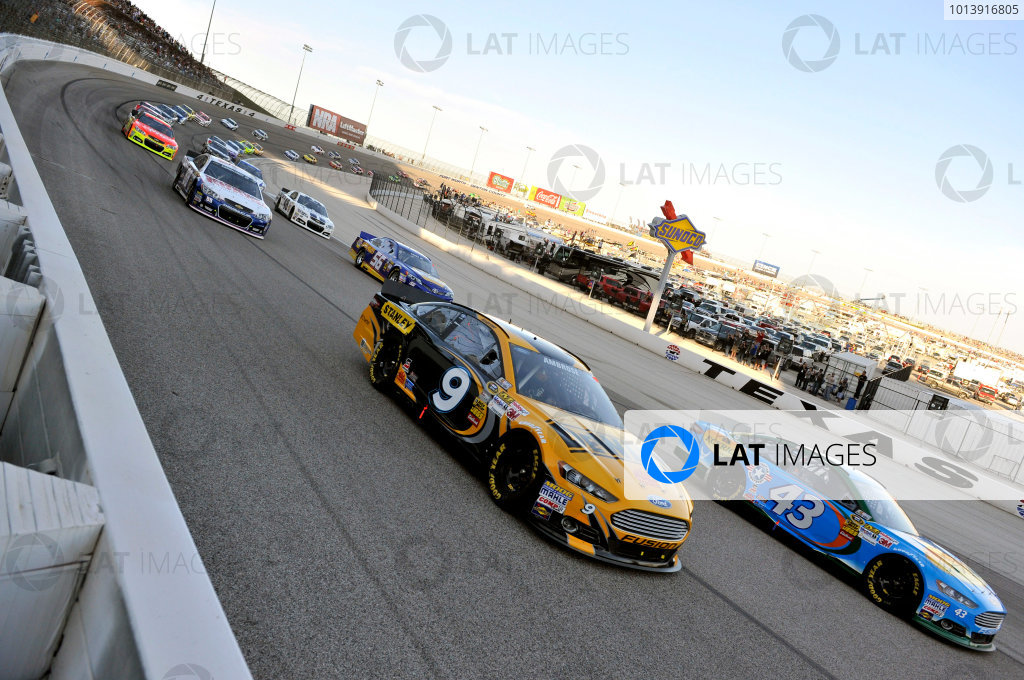11-13 April, 2013, Fort Worth, Texas USA Aric Almirola and Marcos Ambrose ©2013, Nigel Kinrade LAT Photo USA