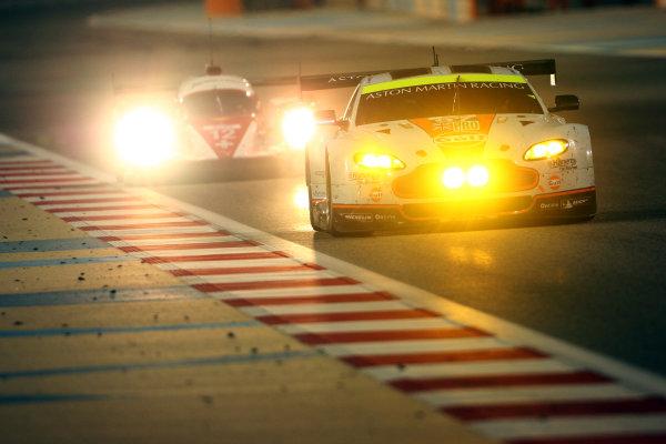 2014 World Endurance Championship, Bahrain International Circuit, Sakhir, Bahrain 13th-15th November, 2014. Darren TURNER, Stefan M?CKE, Aston Martin Vantage V8  World copyright: Lord/Ebrey/LAT Photographic