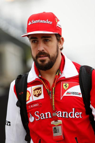 Interlagos, Sao Paulo, Brazil. Friday 7 November 2014. Fernando Alonso, Ferrari. World Copyright: Charles Coates/LAT Photographic. ref: Digital Image _N7T7410