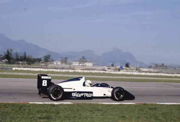 1989 Brazilian Grand Prix.Jacarepagua, Rio de Janeiro, Brazil.24-26 March 1989.Stefano Modena (Brabham BT58 Judd).Ref-89 BRA 27.World Copyright - LAT Photographic