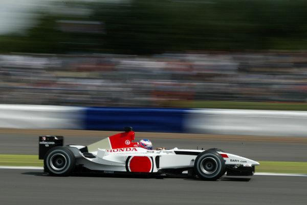 2003 British Grand Prix - Saturday Final Qualifying,Silverstone, Britain. 19th July 2003 Jenson Button, BAR Honda 005, action.World Copyright: Steve Etherington/LAT Photographic ref: Digital Image Only