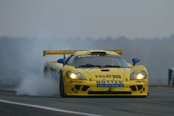2003 Le Mans 1000kmLe Mans, France. 8th - 9th October 2003.Wolfgang Kaufmann in typical form with the Saleen.World Copyright: John Brooks/LAT Photographicref: Digital Image Only