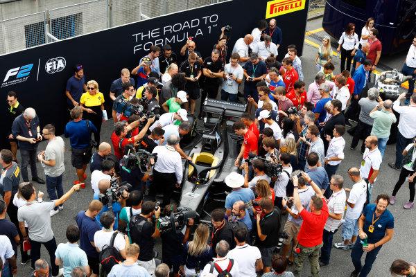 Autodromo Nazionale di Monza, Italy. Thursday 31 August 2017 The new 2018 F2 car in the paddock. Photo: Steven Tee/FIA Formula 2 ref: Digital Image _R3I2041