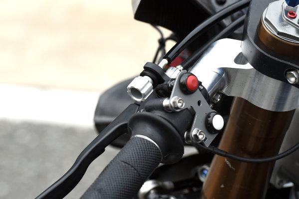 2017 Moto2 Championship - Round 16 Phillip Island, Australia. Thursday 19 October 2017 Xavi Vierge, Tech 3 Racing bike detail World Copyright: Gold and Goose / LAT Images ref: Digital Image 698232