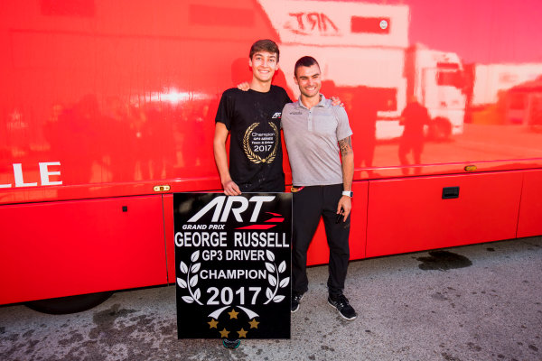 2017 GP3 Series Round 7.  Circuito de Jerez, Jerez, Spain. Sunday 8 October 2017. George Russell (GBR, ART Grand Prix).  Photo: Zak Mauger/GP3 Series Media Service. ref: Digital Image _56I7528
