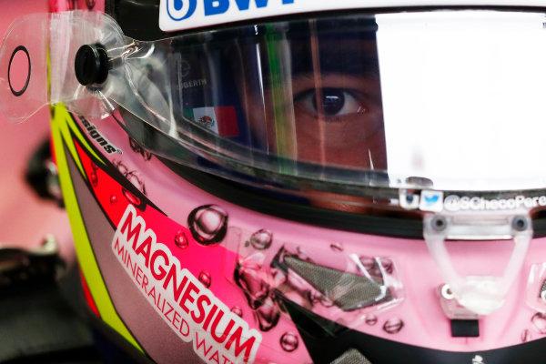 Autodromo Nazionale di Monza, Italy. Saturday 02 September 2017. Sergio Perez, Force India VJM10. World Copyright: Sam Bloxham/LAT Images  ref: Digital Image _W6I3719