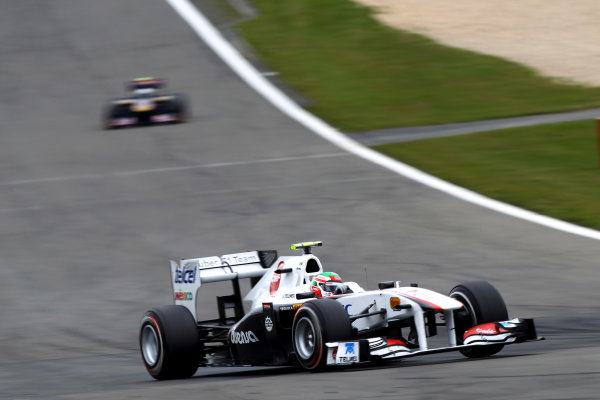 Nurburgring, Germany.24th July 2011Sergio Perez, Sauber C30 Ferrari, 11th position. Action. World Copyright: Andy Hone/LAT Photographicref: Digital Image CSP13169