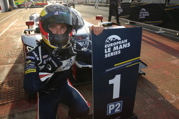 2017 European LeMans Series, Silverstone, 13th-15th April 2017, Filipe Albuquerque (PRT) - UNITED AUTOSPORTS - Ligier JSP217 ? Gibson celebrates the win  World Copyright. JEP/LAT Images