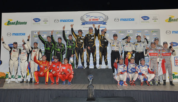 17-20 October, 2012, Braselton, Georgia USA Race class winners.(c)2012 Dan R. Boyd, LAT Photo USA
