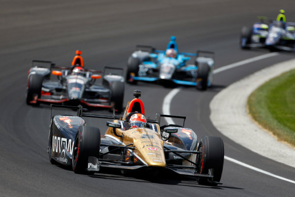 29 May, 2016, Indianapolis, Indiana, USA James Hinchcliffe leads Alex Tagliani ?2016, Phillip Abbott LAT Photo USA