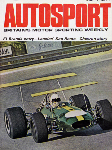 Cover of Autosport magazine, 14th March 1969