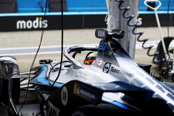 Stoffel Vandoorne (BEL), Mercedes Benz EQ, EQ Silver Arrow 02, in the garage