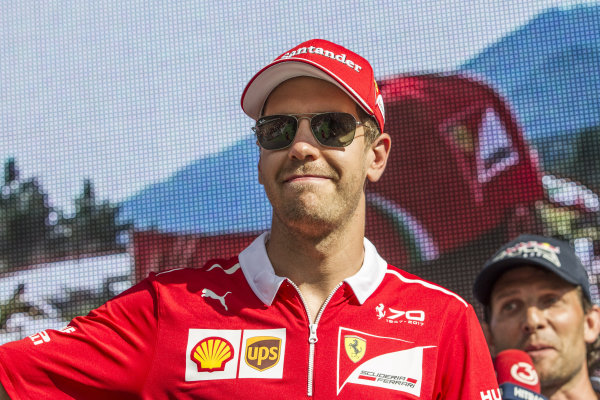 Sebastian Vettel (GER) Ferrari at Formula One World Championship, Rd9, Austrian Grand Prix, Qualifying, Spielberg, Austria, Saturday 8 July 2017.