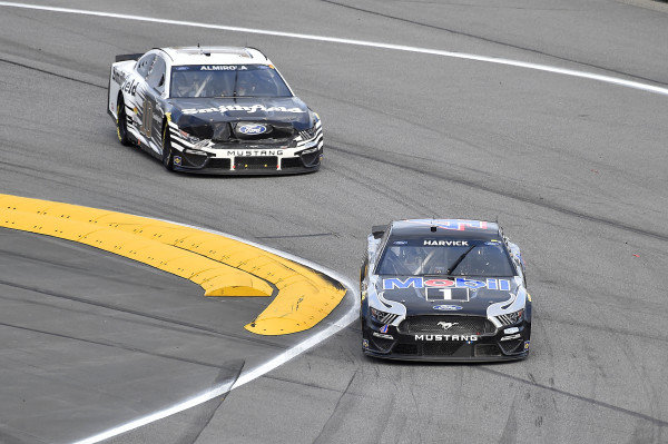 #4: Kevin Harvick, Stewart-Haas Racing, Ford Mustang Mobil 1 and #10: Aric Almirola, Stewart-Haas Racing, Ford Mustang Smithfield