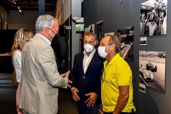 Jean Alesi and Pierluigi Martini, Motorsport Images Exhibition at Villa Reale di Monza