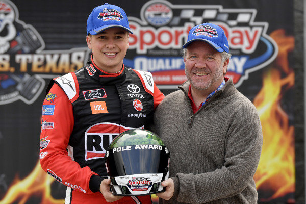 #20: Christopher Bell, Joe Gibbs Racing, Toyota Supra Ruud, pole award