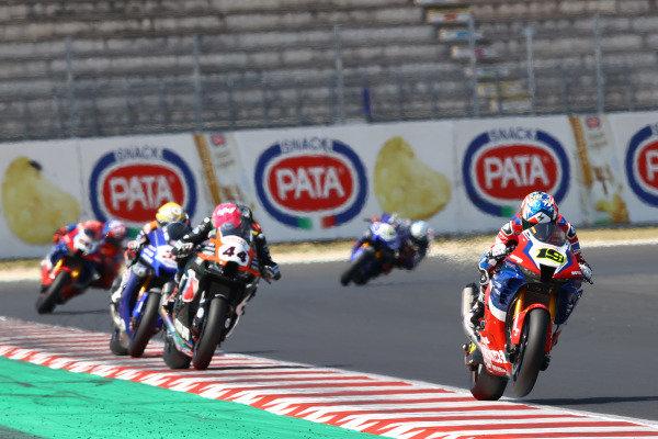 Alvaro Bautista, Team HRC, Lucas Mahias, Kawasaki Puccetti Racing.