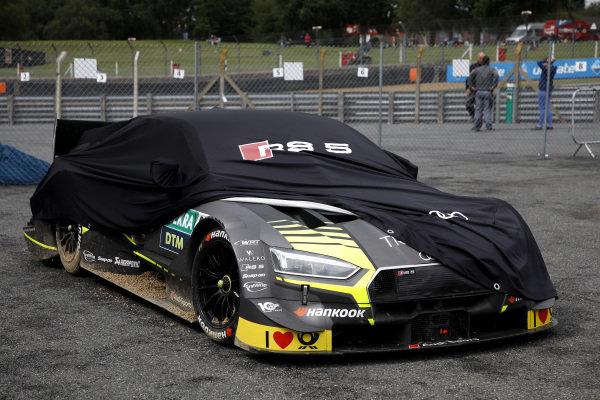 Pietro Fittipaldi, Audi Sport Team WRT, Audi RS 5 DTM after the crash.