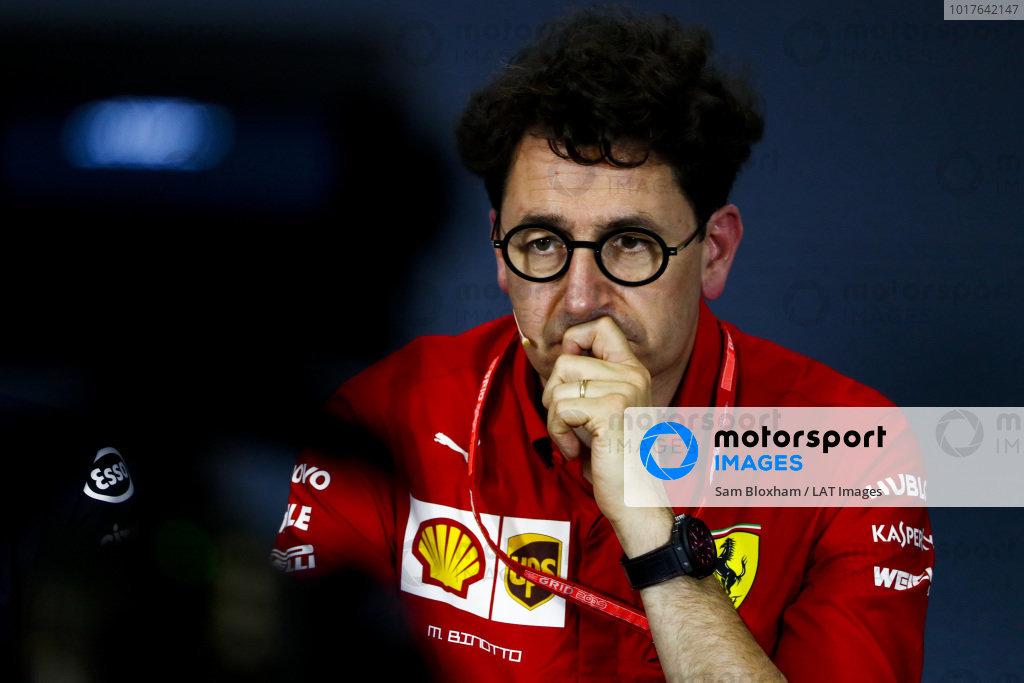 Mattia Binotto, Team Principal Ferrari, in the team principals' Press Conference