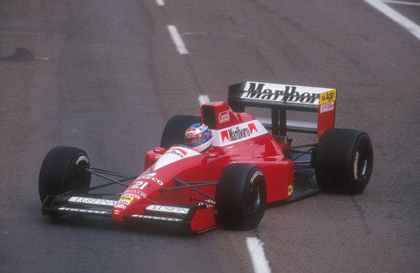 1990 United States Grand Prix.Phoenix, Arizona, USA.9-11 March 1990.Gianni Morbidelli (Dallara 190 Ford). He failed to qualify.Ref-90 USA 11.World Copyright - LAT Photographic