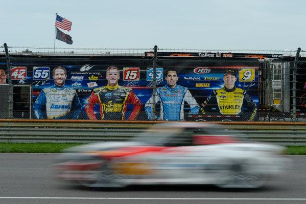 24-25 July,  2014, Indianapolis, Indiana, USA NASCAR drivers overlook Conti Race ©2014, Richard Dole LAT Photo USA