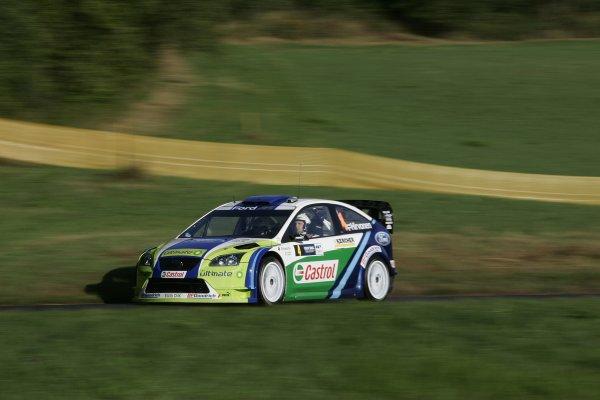2006 FIA World Rally Champs. Round elevenDeutschland Rally.9th- 13th August 2006.Mikko Hirvonen, Ford, action.World Copyright: McKlein/LAT