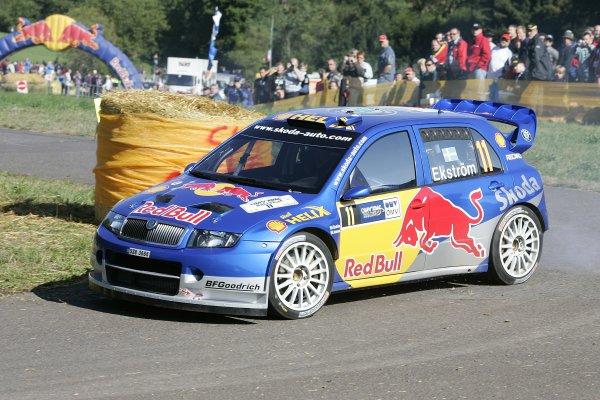 2006 FIA World Rally Champs. Round elevenDeutschland Rally.9th- 13th August 2006.Mattias Ekstrom, Skoda, action.World Copyright: McKlein/LAT