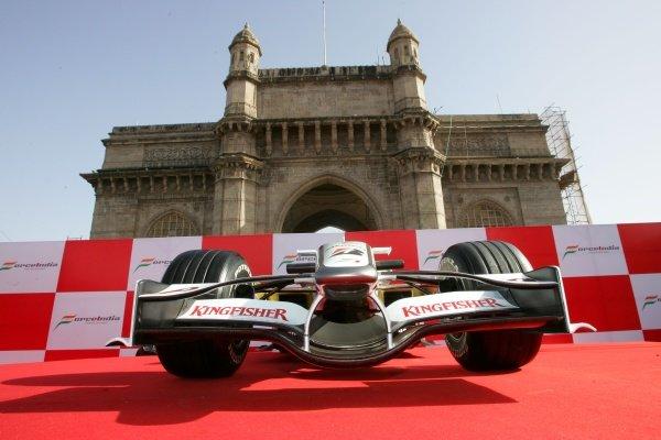 Force India F1 Team Livery Launch, Mumbai, India, Thursday 7 February 2008.