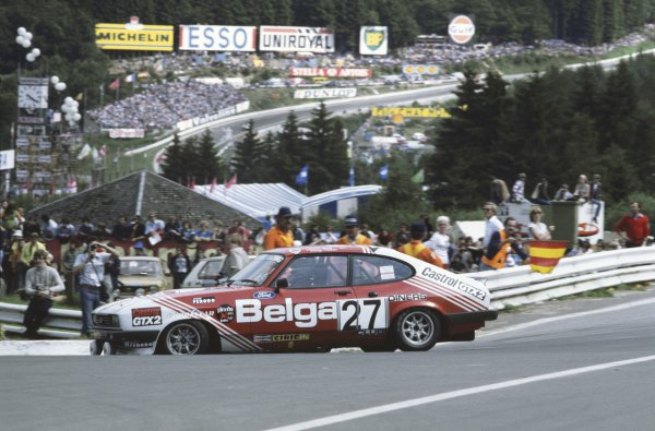 1978 Spa 24 hours. Spa-Francorchamps, Belgium. 22nd - 23rd July 1978. Gordon Spice / Teddy Pilette (Ford Capri 3.0S), 1st position, action. World Copyright: LAT Photographic.