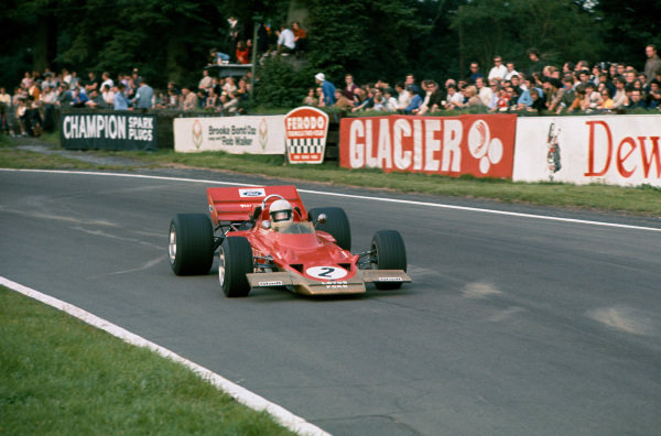 1970 International Gold Cup.  Oulton Park, Cheshire, England. 22nd August 1970.  Jochen Rindt, Lotus 72 Ford.  Ref: 70GC06. World Copyright: LAT Photographic