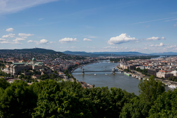 Hungaroring, Budapest, Hungary. Monday 5 June 2017. A view of the city from Citadella. World Copyright: Zak Mauger/LAT Images ref: Digital Image _56I0510