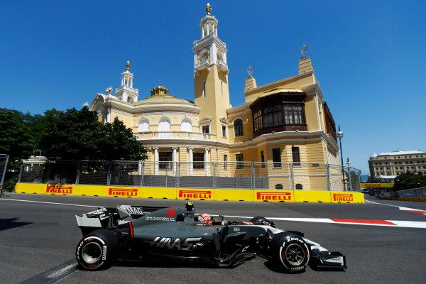 Baku City Circuit, Baku, Azerbaijan. Saturday 24 June 2017. Kevin Magnussen, Haas VF-17 Ferrari.  World Copyright: Steven Tee/LAT Images ref: Digital Image _R3I2718