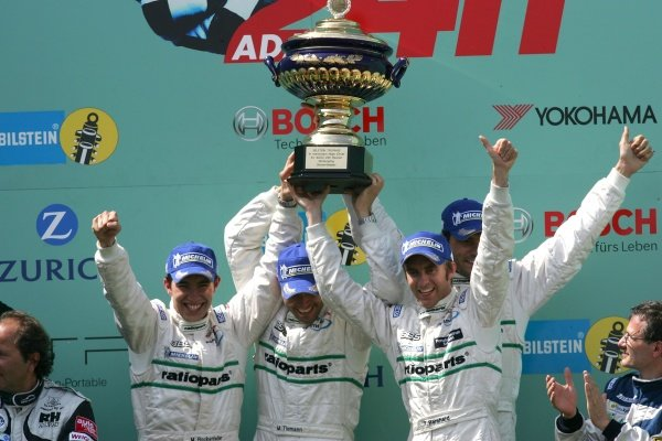 Mike Rockenfeller (GER) / Marcel Tiemann (MON) / Lucas Luhr (GER) / Timo Bernhard (GER) Manthey Racing won the race. Nurburgring 24 Hour Race, Nurburgring, Germany 17-18 June 2006 DIGITAL IMAGE