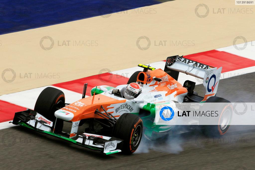 Bahrain International Circuit, Sakhir, Bahrain Friday 19th April 2013 Adrian Sutil, Force India VJM06 Mercedes.  World Copyright: Charles Coates/LAT Photographic ref: Digital Image _X5J2706