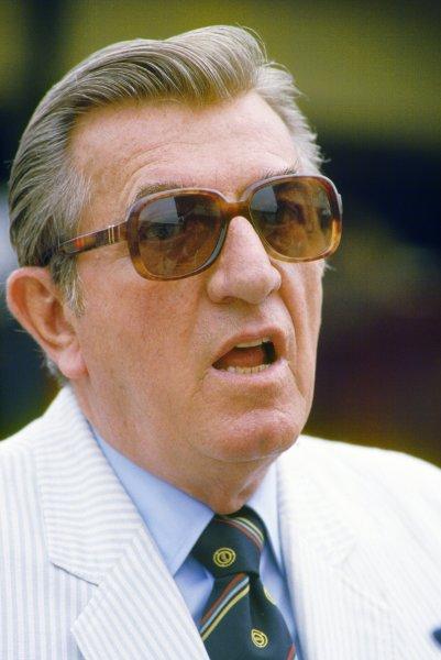 1984 German Grand Prix.Hockenheim, Germany.3-5 August 1984.FIA President Jean-Marie Balestre, portrait.World Copyright - LAT Photographic