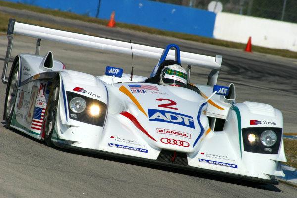 January 31-Feb. 3, 2005, SEBRING INTERNATIONAL RACEWAY THE NO 2 AUDI R8 OF FRANK BIELA &EMANUELE PIRRO -2005, GREG ALECK