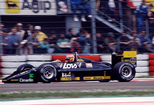 1988 San Marino Grand Prix.Imola, Italy.29/4-1/5 1988.Adrian Campos (Minardi M188 Ford).Ref-88 SM 19.World Copyright - LAT Photographic